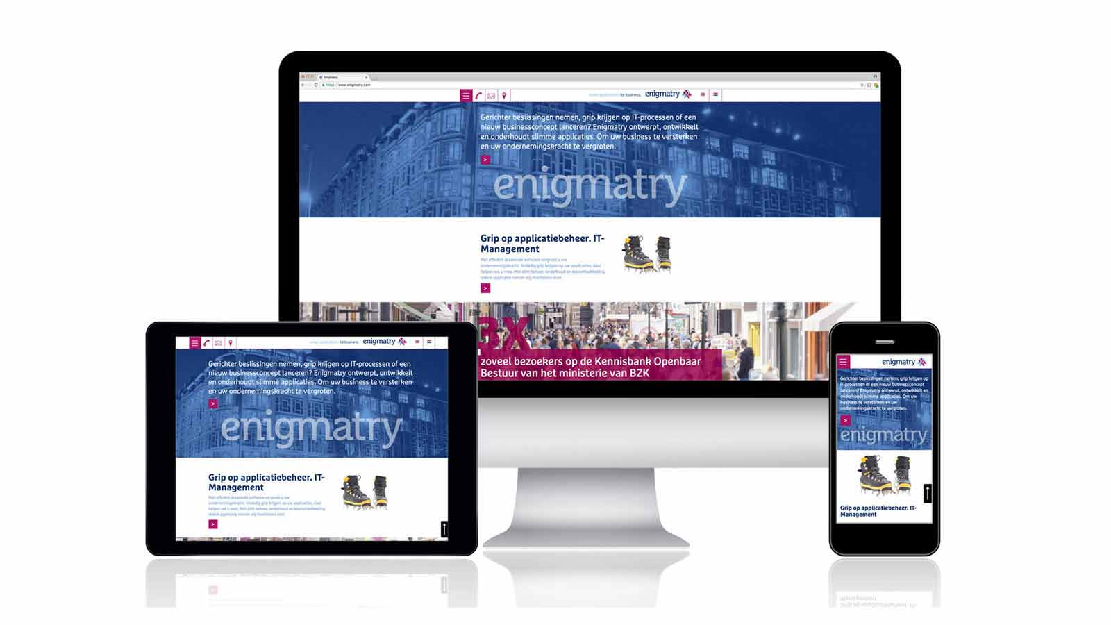 responsive website enigmatry - ontwerpbureau Diepzicht