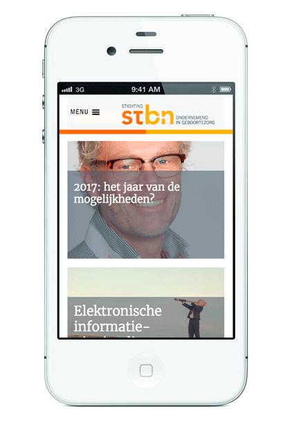 ontwerpbureau diepzicht nijmegen website stbn
