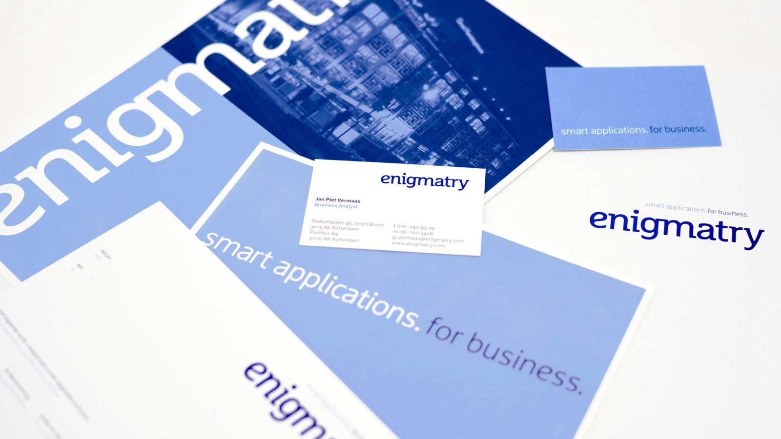 Merkdentiteit en branding enigmatry - ontwerpbureau diepzicht nijmegen