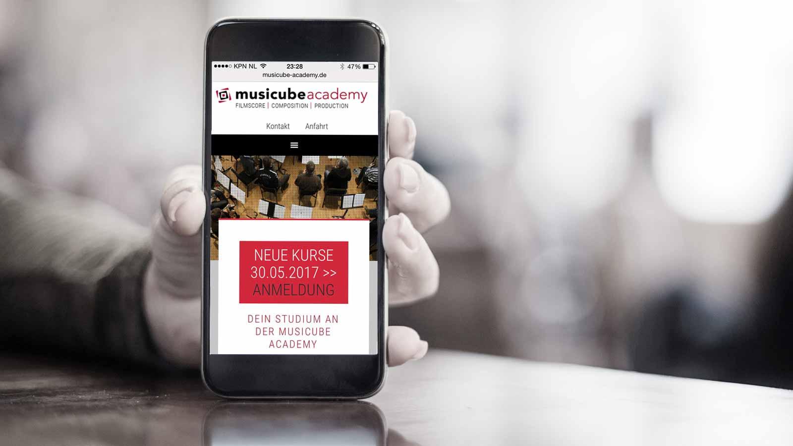 multilanguage website musicube - ontwerpbureau diepzicht nijmegen